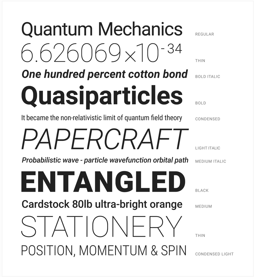 Materialize font weights